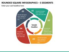 Rounded Square Infographics – 5 Segments PPT slide 2