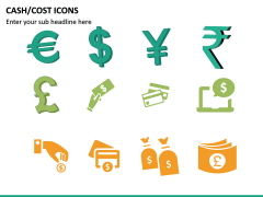 Cash Cost Icons PPT Slide 24