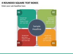 4 Rounded Square Text Boxes PPT slide 2
