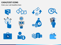Cash Cost Icons PPT Slide 8