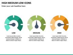 High Medium Low Icons PPT Slide 15