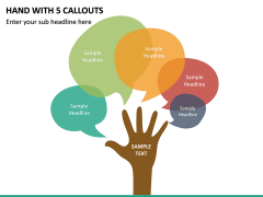 Hand With 5 Callouts PPT Slide 2