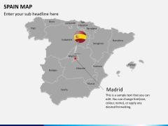 Spain map PPT slide 16