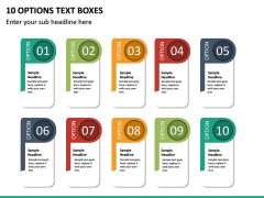 10 Options Text Boxes PPT slide 2