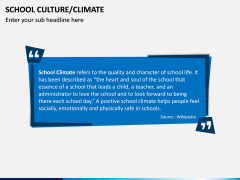 School Culture PPT Slide 1