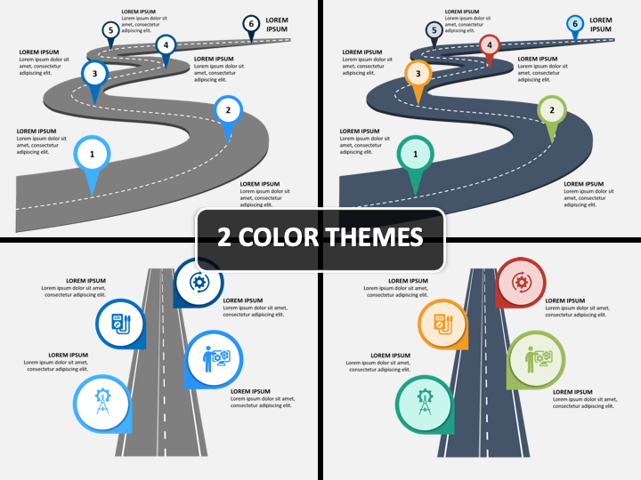 Road Infographics PPT Cover Slide