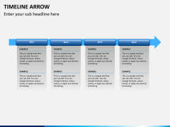 Timeline arrow PPT slide 5