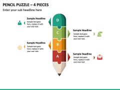 Pencil Puzzle – 4 Pieces PPT slide 2