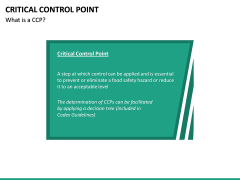 Critical Control Point PPT Slide 15