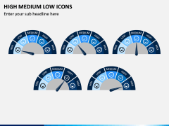 High Medium Low Icons PPT Slide 12