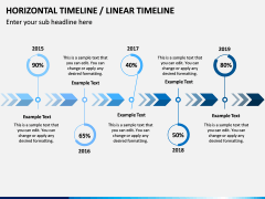 Horizontal Timeline PPT Slide 18