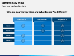 Comparison Tables PPT slide 6