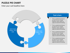Puzzle pie chart PPT slide 3