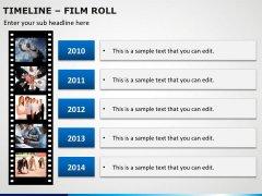 Timeline Film Roll PPT Slide 6