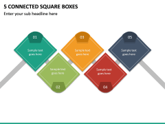 5 Connected Square Boxes PPT slide 2