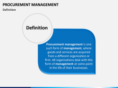 Procurement Management PPT Slide 1