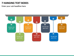 7 Hanging Text Boxes PPT slide 2