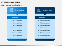 Comparison Tables PPT slide 8