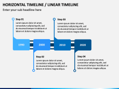 Horizontal Timeline PPT Slide 7