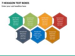 7 Hexagon Text Boxes PPT slide 2