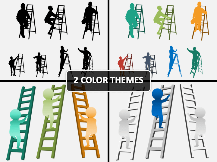Man with Ladder PPT Cover Slide