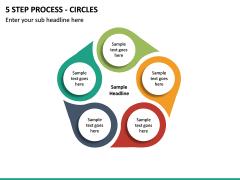 5 Step Process - Circles PPT slide 2