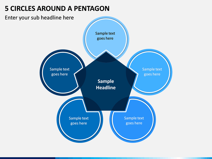 5 Circles Around A Pentagon PPT slide 1