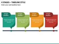 4 Stages – Timeline Style PPT slide 2