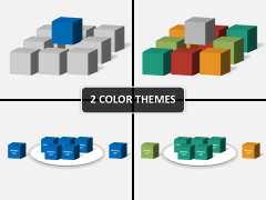 3D squares PPT cover slide
