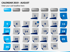 Calendar 2019 PPT Slide 8