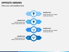 Opposite Arrows PPT Slide 8