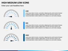 High Medium Low Icons PPT Slide 11