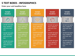 5 Text Boxes - Infographics PPT slide 2