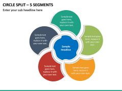 Circle Split – 5 Segments PPT slide 2