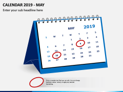 Desk Calendar 2019 PPT Slide 5