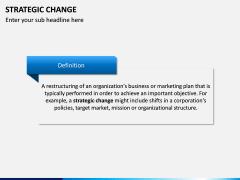 Strategic Change PPT slide 1