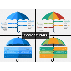 Umbrella Infographics PPT Cover Slide