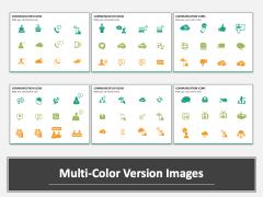 Communication Icons PPT slide MC Combined