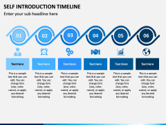 Self Introduction Timeline PPT Slide 1