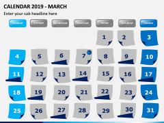 Calendar 2019 PPT Slide 3