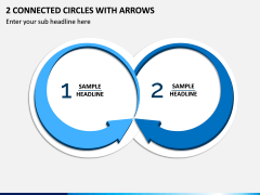 2 Connected Circles With Arrows PPT Slide 1