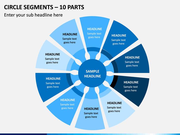 Circle Segments – 10 Parts PPT Slide 1