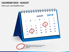Desk Calendar 2019 PPT Slide 8