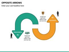 Opposite Arrows PPT Slide 16
