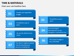Time and Materials PPT Slide 5