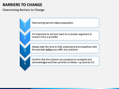 Barriers to Change PPT slide 9