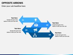 Opposite Arrows PPT Slide 7