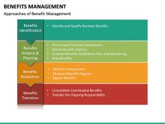 Benefits management PPT slide 18