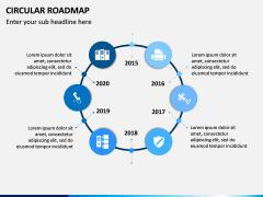 Circular Roadmap PPT Slide 10