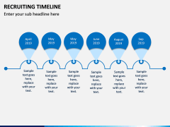 Recruiting Timeline PPT Slide 1